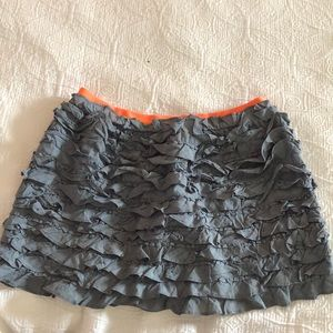 jcrew mini ruffle skirt